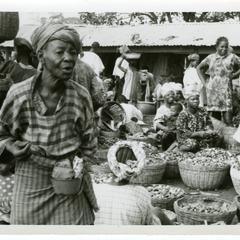 Kola selling at Oshu market