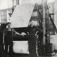Workers at Gilbert Paper Mill
