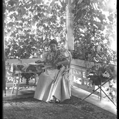 Mrs. F. S. Newell on porch