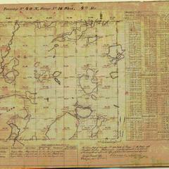 [Public Land Survey System map: Wisconsin Township 40 North, Range 16 West]