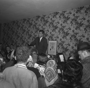 John F. Kennedy giving campaign speech