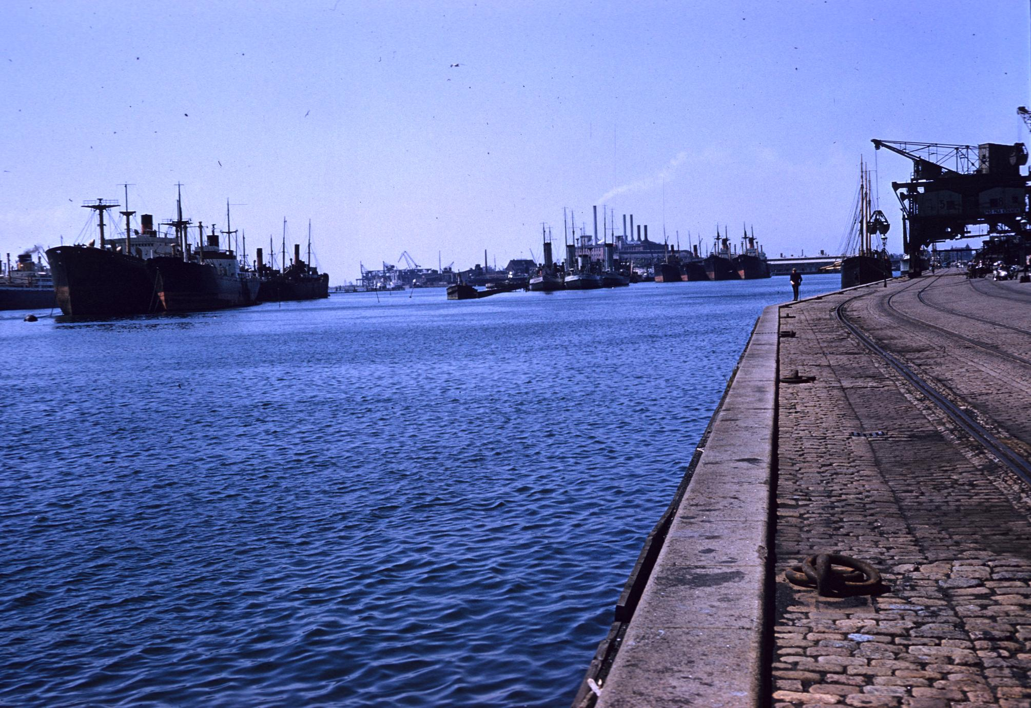 Cargo ships in harbor
