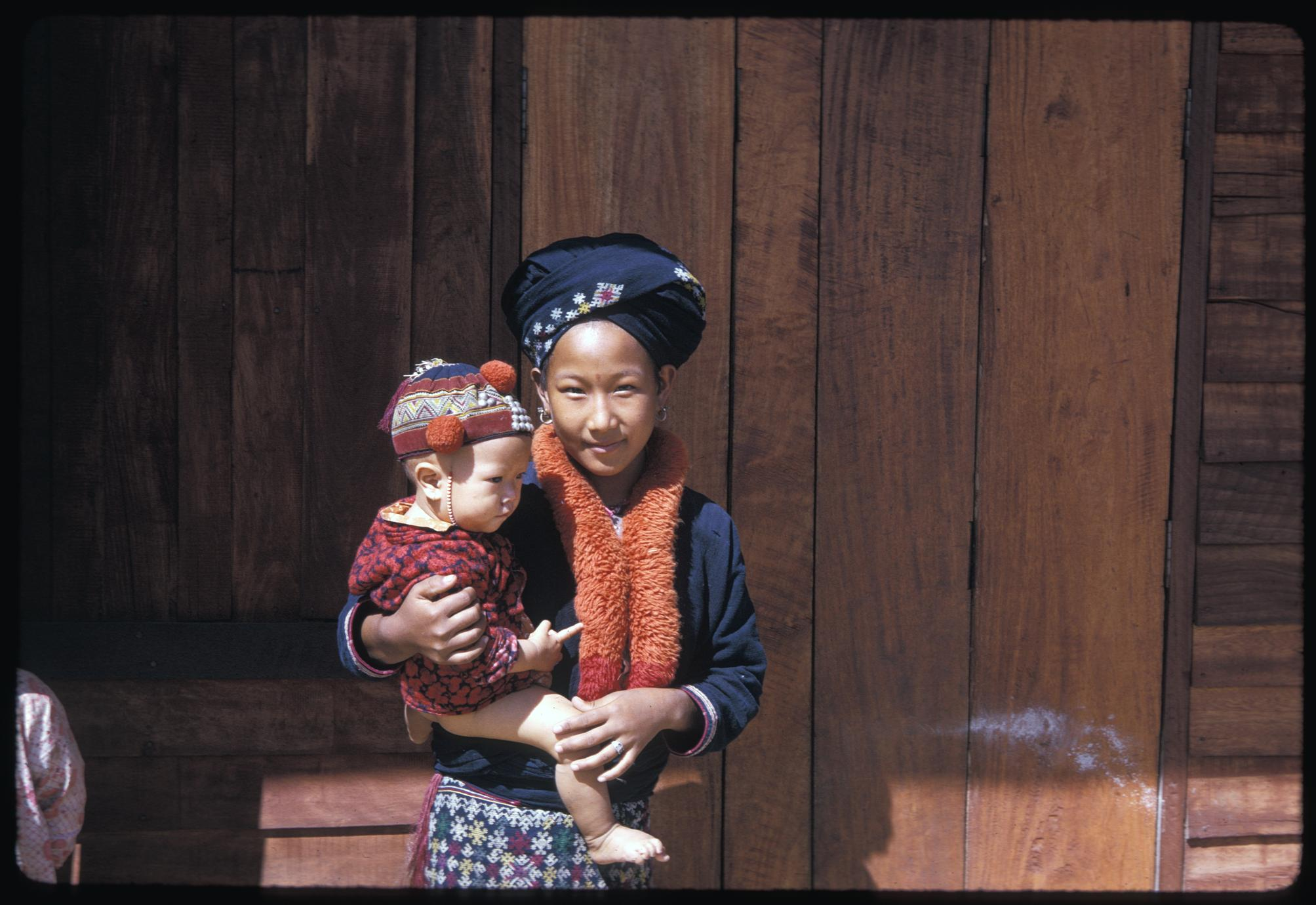 Yao woman with child
