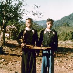 Two White Hmong young men in Houa Khong Province