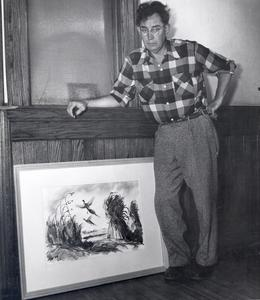 Byron Jorns, staff artist for the Department of Agriculture