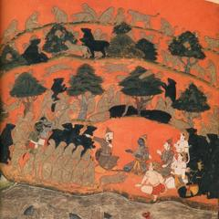 Seige of Lanka Illustrated Manuscript Detail