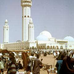 Exterior View of Mosque of Touba Showing Three of Five Minarets
