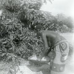 Sifting and Winnowing Cassava Flour in a Kuba-Ngongo Village