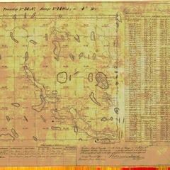 [Public Land Survey System map: Wisconsin Township 36 North, Range 14 West]