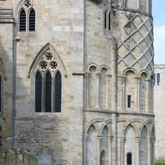 Christchurch Priory exterior north transept from the east