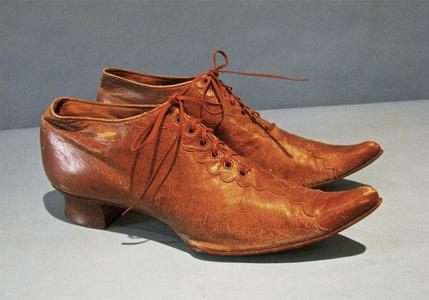 Pair of ginger brown leather shoes