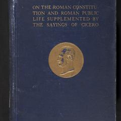 Cicero : a sketch of his life and works