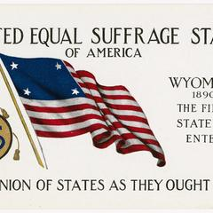 Wyoming, United Equal Suffrage States postcard