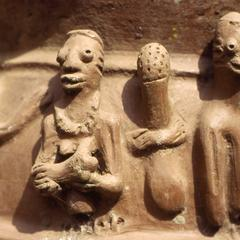 Close-up of pottery art