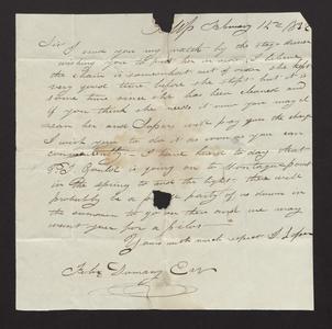 Letter from J. [or I.] Loper to Felix Dominy, 1832