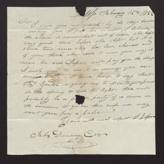 Letter from J. [or I.] Loper to Felix Dominy, 1832