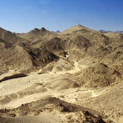Rocks in Desert Landscape between Tamanrasett and Djanet