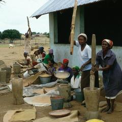 Making Lunch Outside Village School