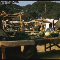 Morning market--vegetable stall