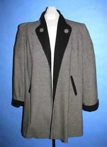 Gray and white herringbone jacket