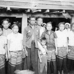 Group of Lao villagers
