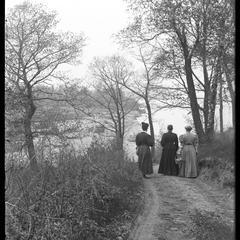 Picnic - June - group on path, Jacob's Isle