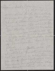 [Letter from Chas Sternberger to Agnes Sternberger Husting, September 1923]