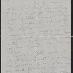 [Letter from Chas Sternberger to Agnes Sternberger Husting, September 1923]