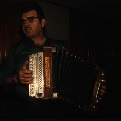 Tom Johanik plays a two-row button accordion