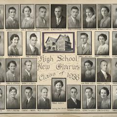 1936 New Glarus High School graduating class