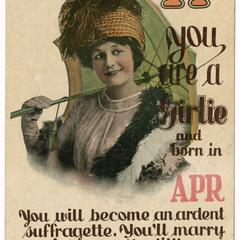 If you are a girlie, suffrage postcard