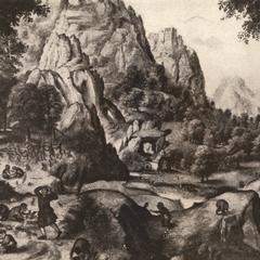 Landscape with Pedlar Theme
