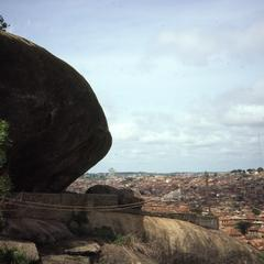 Abeokuta in the distance
