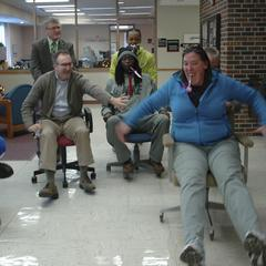 Office chair races