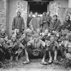 Lepers at a leper village near Yeungkong 陽江.