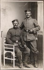 Mein Brüder Sepp u. Schorsch 1914 11. Inf. Reg.
