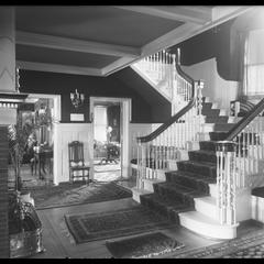G. A. Yule residence - hall showing fireplace