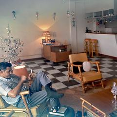Living area, USIS apartment Christmas 1968