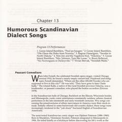 Humorous Scandinavian dialect songs