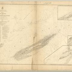 Chart of Isle Royale including north west coast of Lake Superior