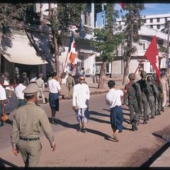 Vat Ong Tu : procession marking end of Buddhist Lent