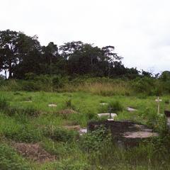 Main cemetery in Mouila, Gabon