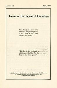 Have a backyard garden