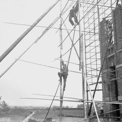 [Scaffolding at the Christian college in Canton 廣州]
