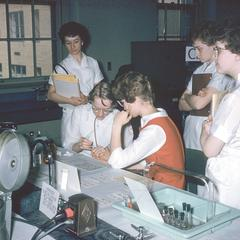 Medical technology students in the lab