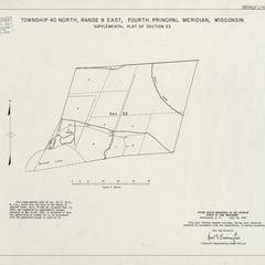 [Public Land Survey System map: Wisconsin Township 40 North, Range 09 East]