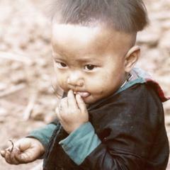 A White Hmong child at Nam Phet in Houa Khong Province