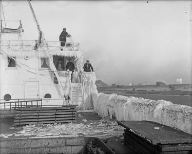 Crew of Canopus with Ice-covered Wheelhouse