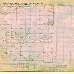 [Public Land Survey System map: Wisconsin Township 20 North, Range 03 West]