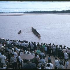 Boat races : general view with boats in distance